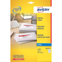 Etichette bianche QuickDry Avery
