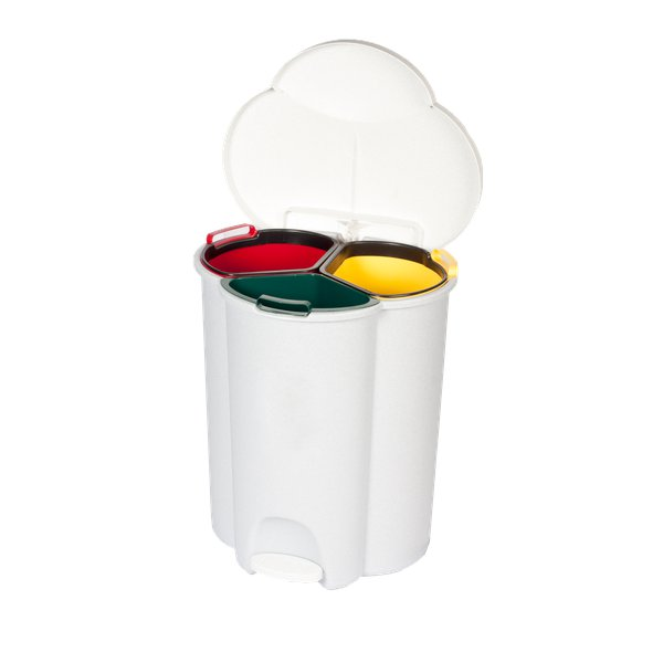 Pattumiera per raccolta differenziata Rubbermaid Trio Pedal Bin