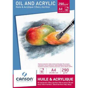 Blocco di fogli da disegno per pittura a olio e acrilico Canson